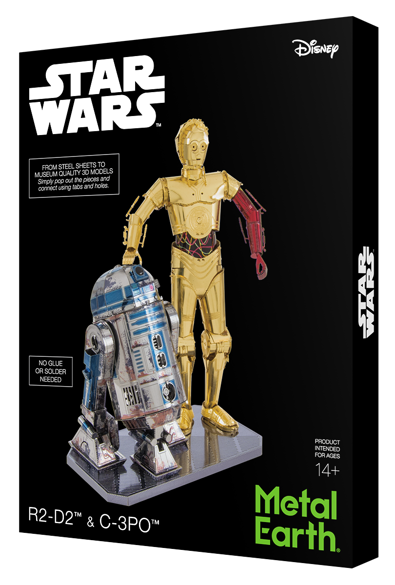 Metal Earth - Star Wars: R2-D2 & C-3PO, metāla konstruktors