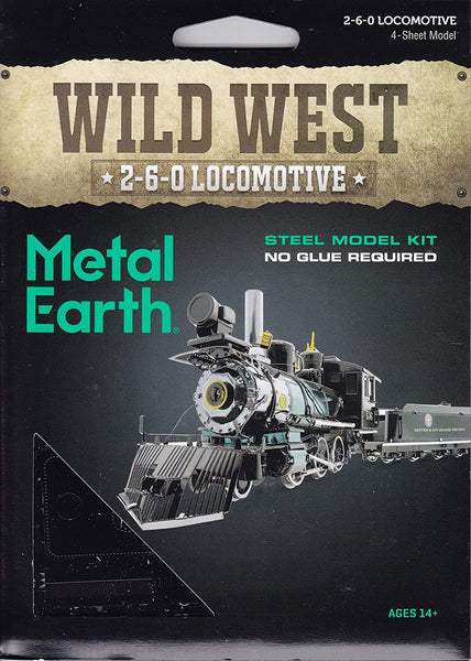 Metal Earth - Wild West 2-6-0 Locomotive, konstruktors
