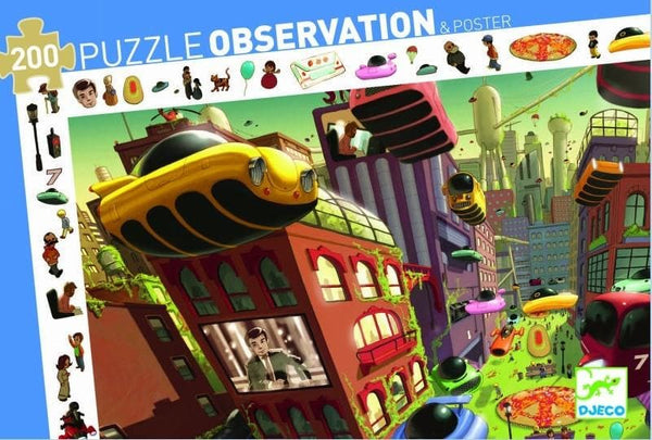 Observation Puzzles: City of the Future, 200, puzle bērniem