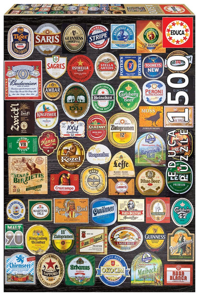 Puzle, 1500 - BEER LABELS COLLAGE
