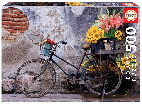Puzle, 500 - BICYCLE WITH FLOWERS