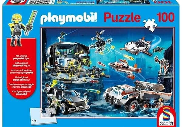 Puzle, Playmobil, Top Agents, 100