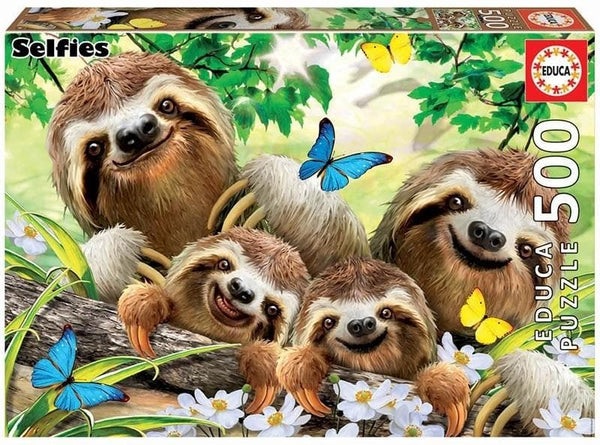 Puzle, 500 - SLOTH FAMILY SELFIE