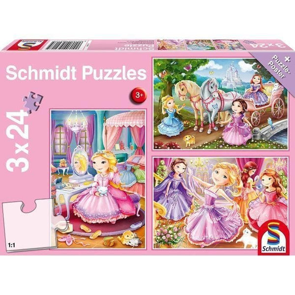 Puzles, Fairytale Princesses, 3x24 pcs