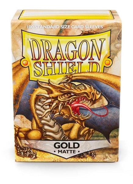 MATTE Sleeves - GOLD, Dragon Shield