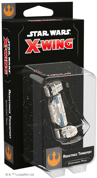 star wars x wing, resistance transport, galda spele