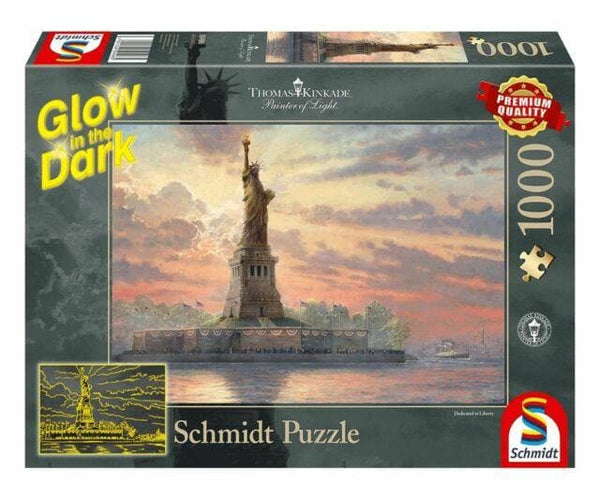 Puzle, 1000 - Statue of Liberty in the twilight, Glow in the Dark