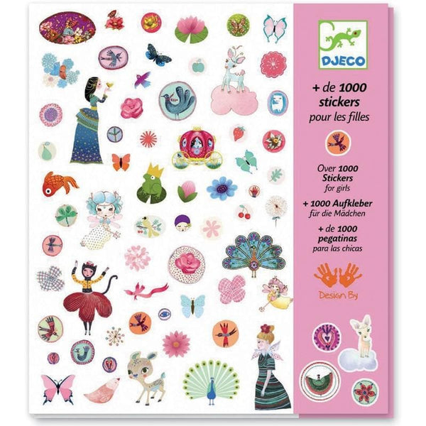 Stickers: 1000 Stickers for Girls, uzlīmes