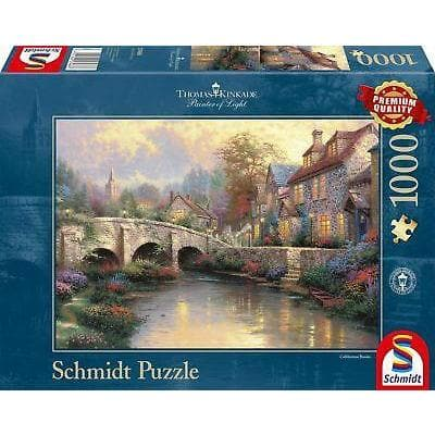 Puzle, 1000 - Thomas Kinkade Painter of Light: Cobblestone Brooke