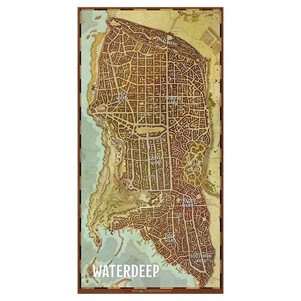 D&D Waterdeep Vinyl Game Mat (20'' x 40'')