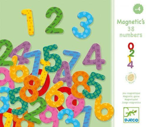 Wooden magnetics - 38 numbers