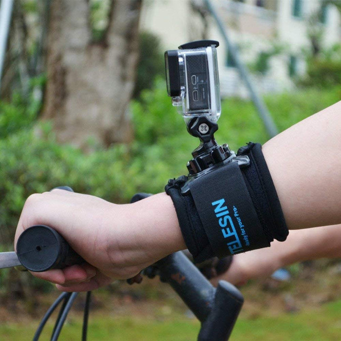 TELESIN 360 Degree Rotary Arm Hand Wrist Strap with J Hook Rotation Mount for Gopro Hero3/3+/4