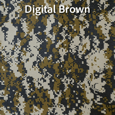 Digital brown camouflage design for camera tripod bag