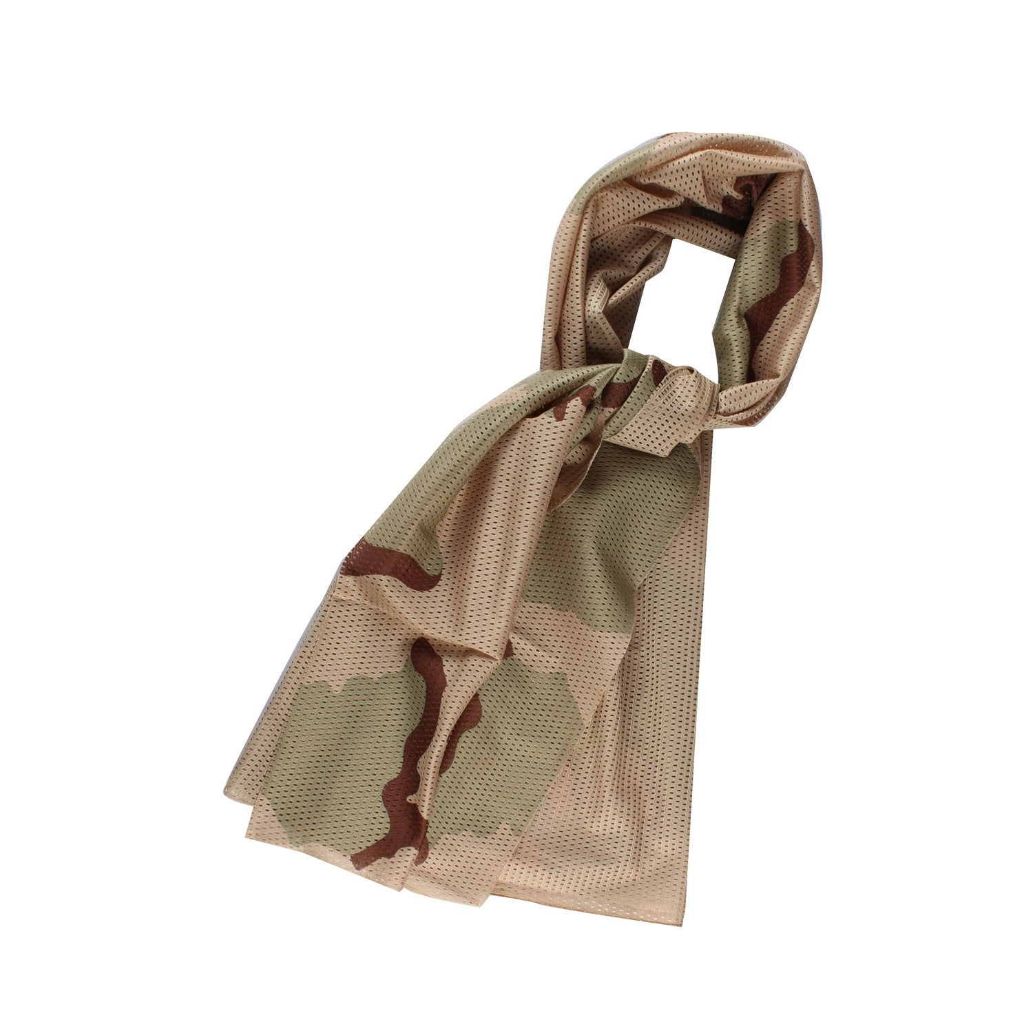 Brown Camouflage Neck Scarf - Neck Loop