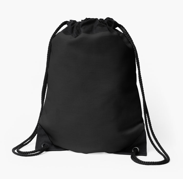 Drawstring Bag Black - Water Resistant