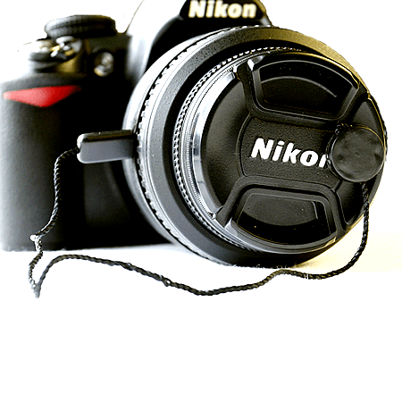 Lens Cap Strap attached