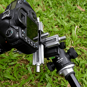 Macro Focusing Rails attached to camera