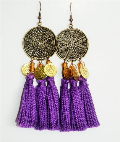 TASSELS EARRINGS MARRAKESH3 AMETHYST