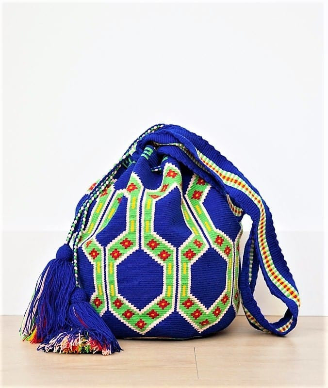 wayuu mochilas bags royal BLUE