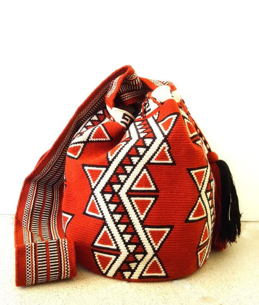 wayuu mochila bag terracota