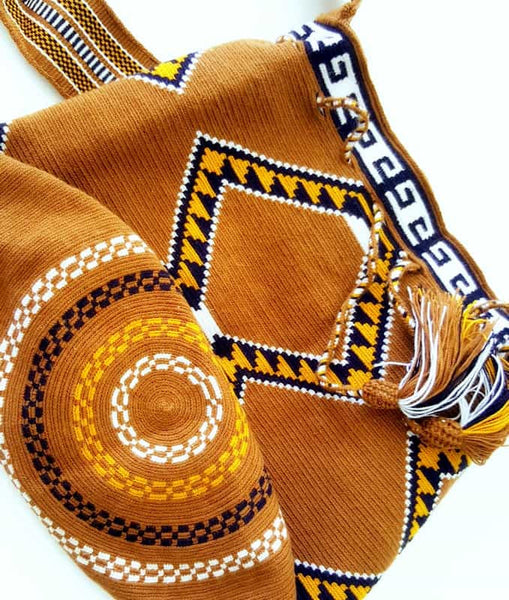 Wayuu mochila bag malambo brown earthy