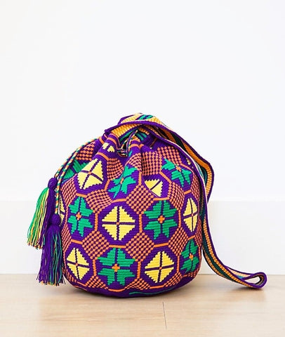 Wayuu mochila bag malambo purple