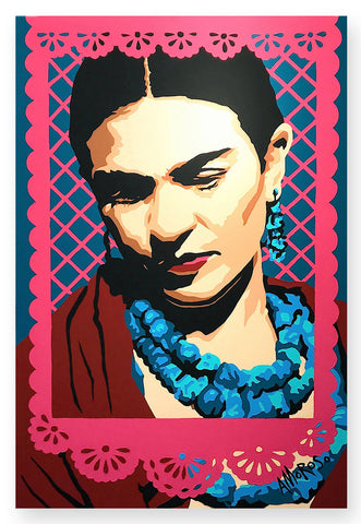 'Frida con Papel Picado'
