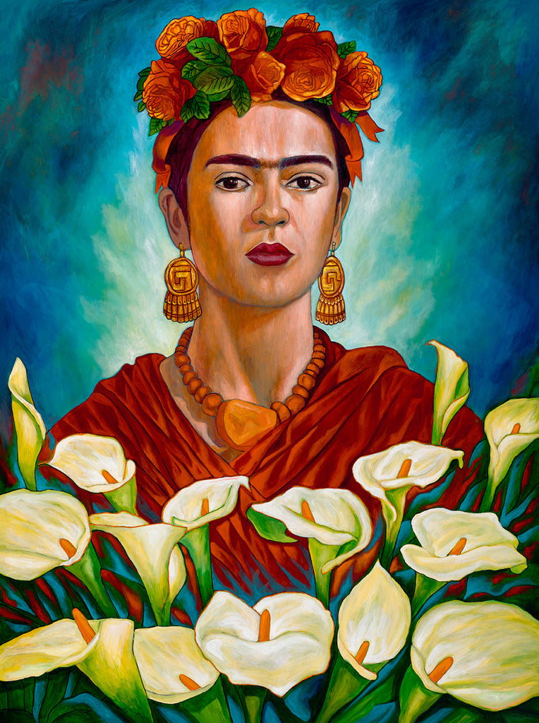 "'Frida entre Alcatraces' ... 16""x21"""