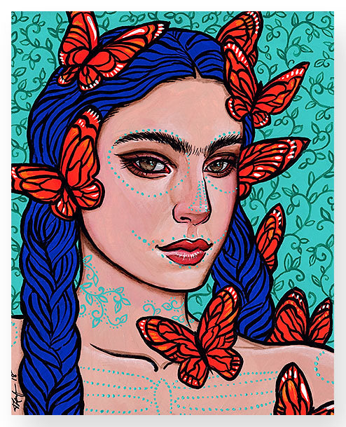'Frida and Monarch Butterflies'