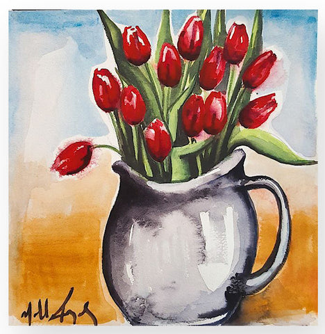 'Still Life Red Tulips'
