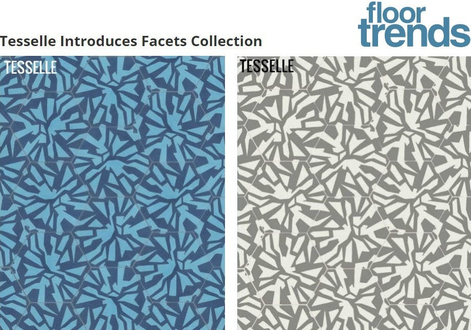 Floor Trends Magazine Features Tesselle's Facets Cement Tiles