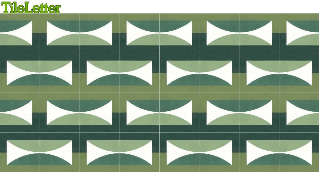 Jim Isermann Hedge Solstice Cement Tiles by Tesselle