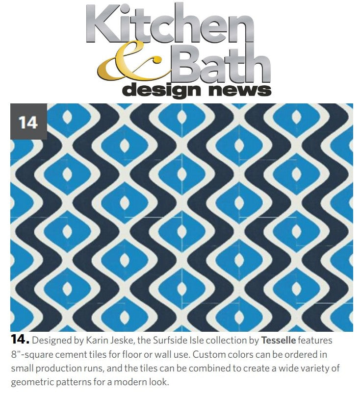 Kitchen Bath And Design News Features Tesselle S Surfside