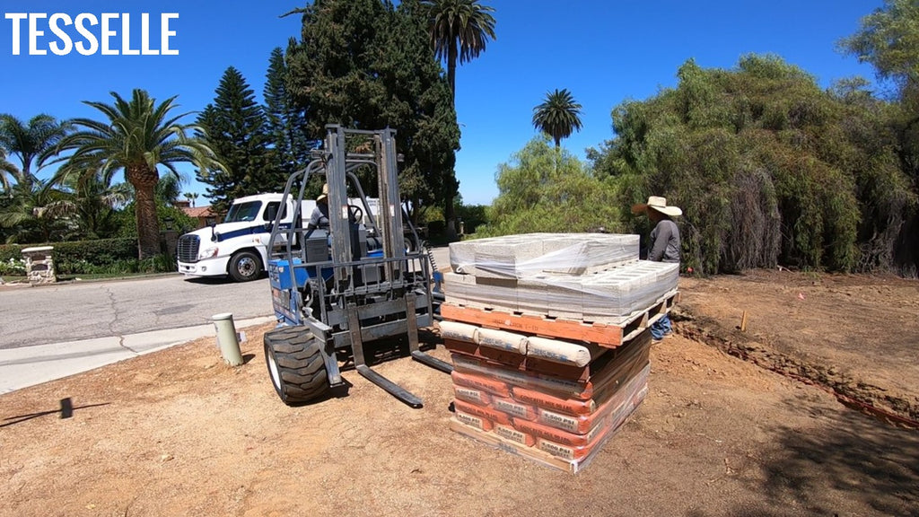 Blocks and Concrete for Breeze Block Wall project