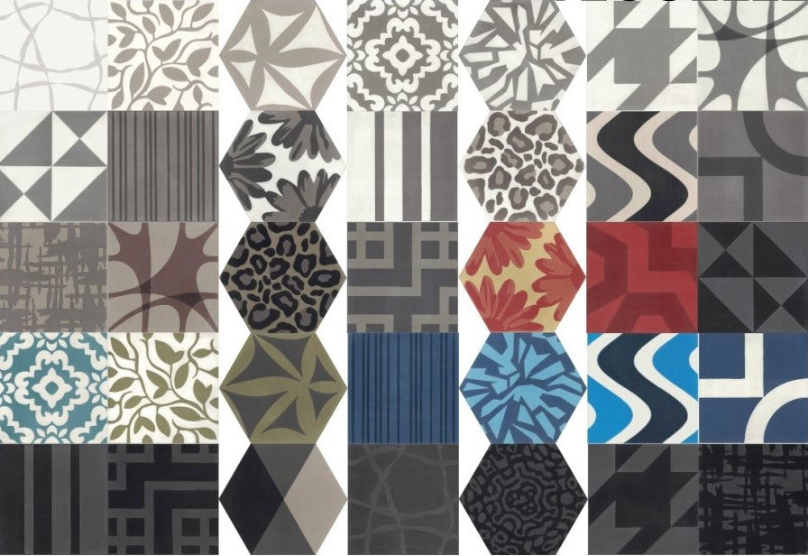 Tesselle In Stock Cement tile Collection