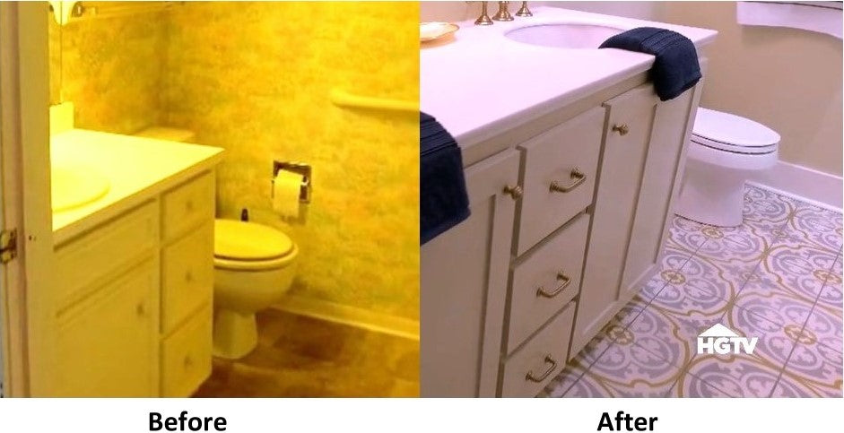 before and after tesselle tile