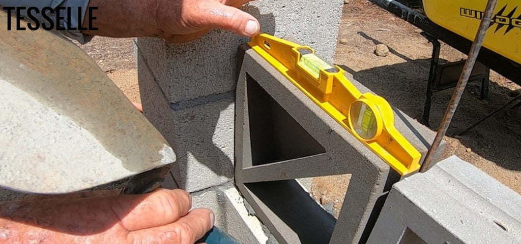 Laying First Breeze Block