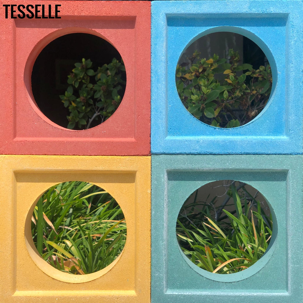 Through-color Breeze Blocks