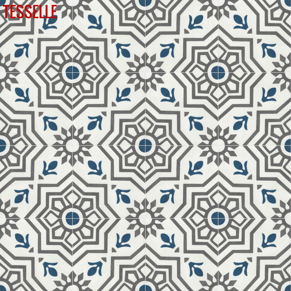 "Alegre Novo 8"" Square Cement Tile"