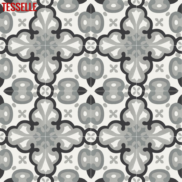 "Alicante Cassio 8"" Square Cement Tile 1"