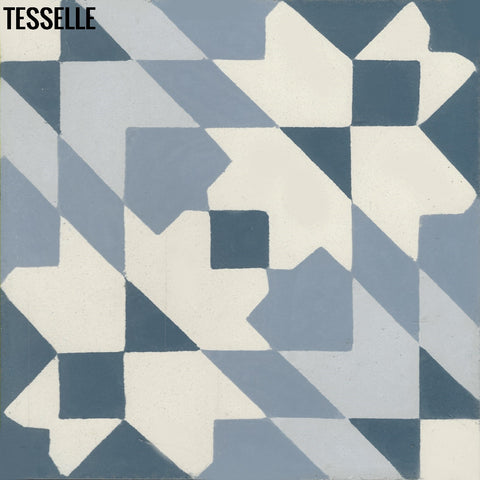 "Andalusia Sky 8"" Square Cement Tile"