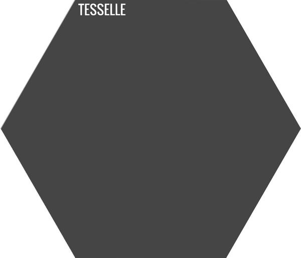 "Anthracite 2003 - 9""x8"" Hexagonal Cement Tile"