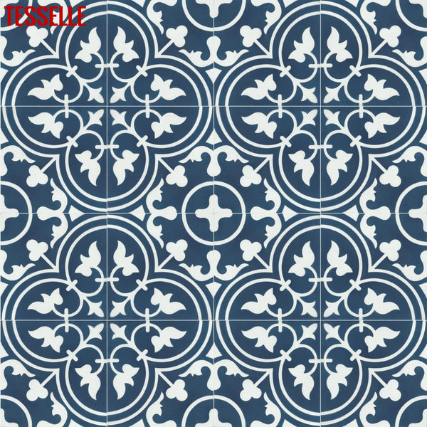 "Avignon Rhone 8"" Square Cement Tile"