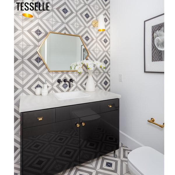 "Bande Chara 8"" Square Cement Tile"