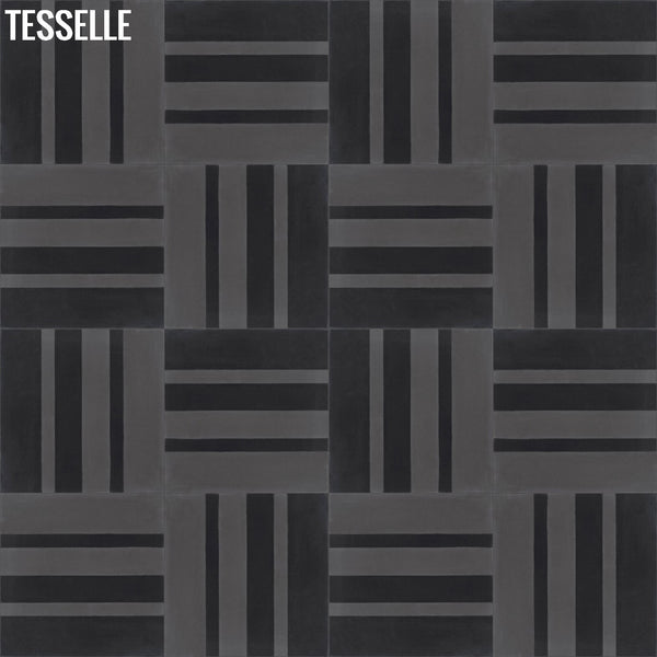 "Barcode Pepper 8"" Square Hexagonal Cement Tile Layout 3"