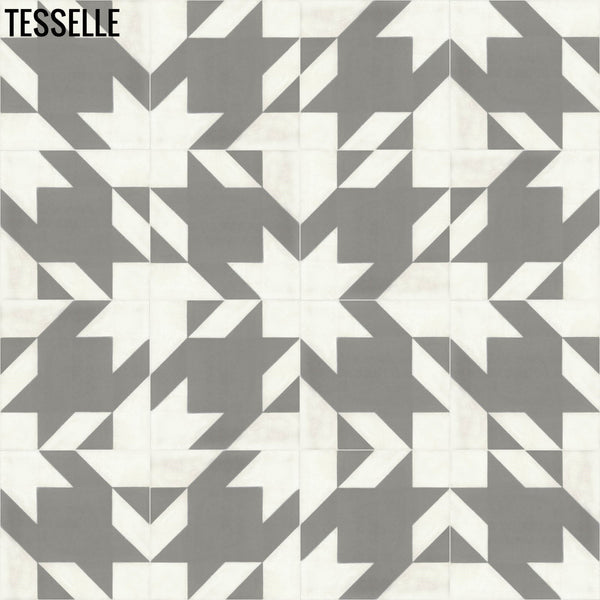 "Baskerville Cashmere 8"" Square Cement Tile Layout 5"