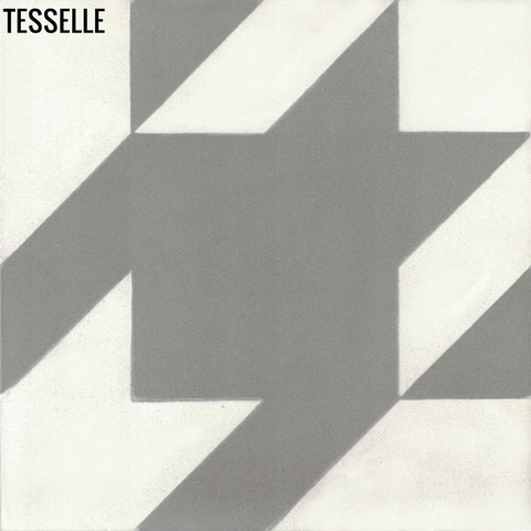 "Baskerville Cashmere 8"" Square Cement Tile"