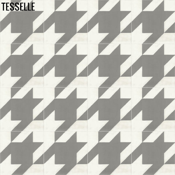 "Baskerville Cashmere 8"" Square Cement Tile Layout 1"