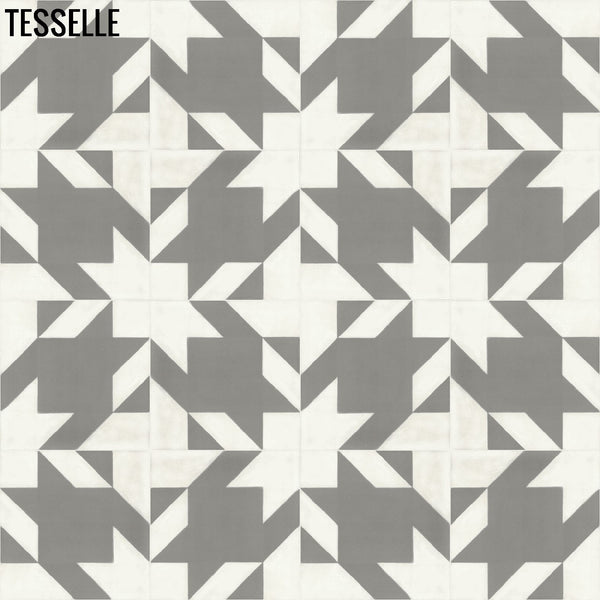 "Baskerville Cashmere 8"" Square Cement Tile Layout 2"