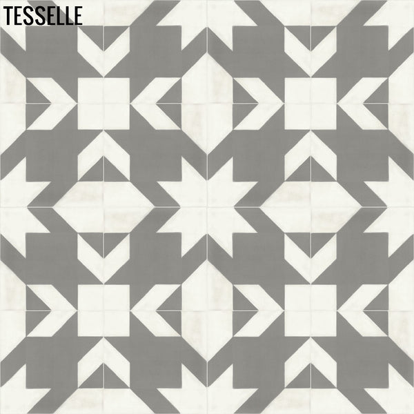 "Baskerville Cashmere 8"" Square Cement Tile Layout 3"